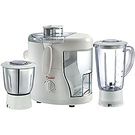 Prestige Juicer Mixer Grinder Champ  550 Watt  with 1 Liquidising Jar + Dry/Wet Grinding   Chutney Jar + Juicer Jar
