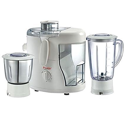 8180b7a69 Buy Prestige Juicer Mixer Grinder Champ (550 Watt) with 1 Liquidising Jar +  Dry Wet Grinding   Chutney Jar + Juicer Jar Online at Low Prices in India  ...