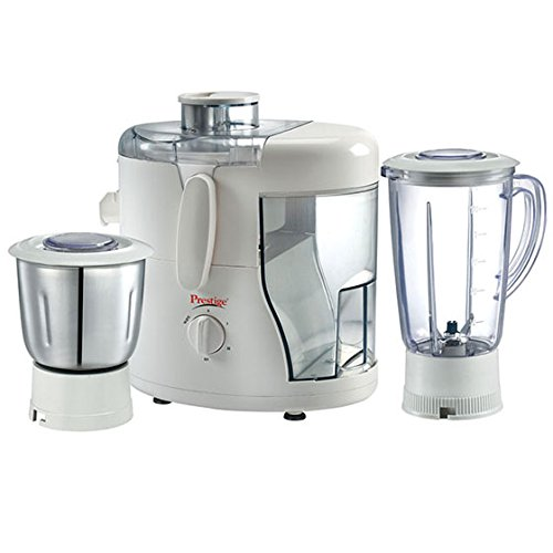 Prestige Juicer Mixer Grinder Champ  550 Watt  with 1 Liquidising Jar + Dry/Wet Grinding   Chutney Jar + Juicer Jar