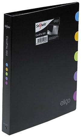 Snopake Eligo Porte Cartes De Visite Format A4 Capacite 500 Noir