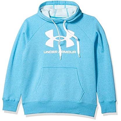 Under Armour Women's Rival Fleece Logo Hoodie Warm-up Top 1