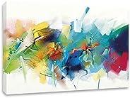 Cuadro Decorativo Canvas Estilo Abstracto Abstracto Fusión Tintas Decoración de Interiores Cuadros Modernos pa