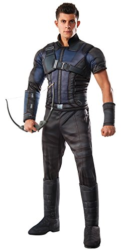 Rubie's Costume Co Marvel Men's Captain America: Civil War Deluxe Muscle Chest Hawkeye Costume ()