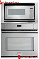 """Bundle – 3 items: Frigidaire Professional 3 Piece 27"""" Stainless Steel Electric Wall Oven/Microwave Combo FPEW2785PF FPMO209KF MWTK27KF"""