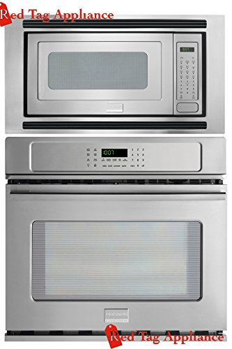 Bundle – 3 items: Frigidaire Professional 3 Piece 27″ Stainless Steel Electric Wall Oven/Microwave Combo FPEW2785PF FPMO209KF MWTK27KF