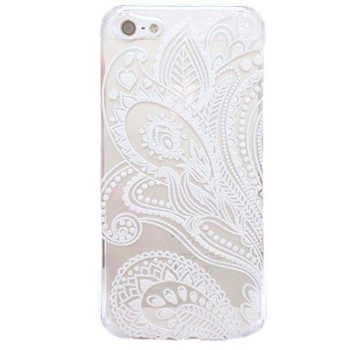 Sannysis für iPhone 5 5S;Fashion Henna Weiße Blume Blumen Kunststoff-Tasche