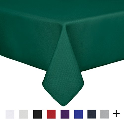 Remedios 90 x 132-inch Rectangle Polyester Tablecloth Table Cover - Wedding Restaurant Party Banquet Decoration, Hunter Green