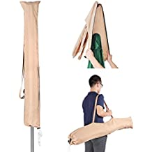 Yescom Portable Patio Umbrella Protective Cover Carry Bag Sew-in Wands Quick Removal Water Resistant Polyester 9ft