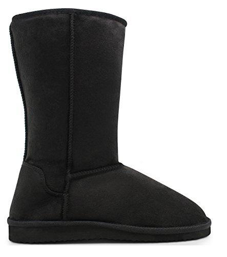 Marco Republic Alaska Womens Soft Fur Eskimo Boots - (Black) - (Sale Boots)