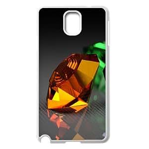 {Funny Series} Samsung Galaxy Note 3 Case Minimalistic Diamonds, Cheap Case Okaycosama - White