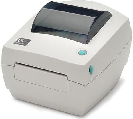 Zebra CG420d - Impresora de etiquetas (direct thermal / thermal transfer, 203 x 203 DPI, 102 mm/seg, 8 MB, 8 MB, 127 mm), color blanco
