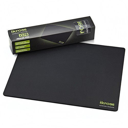 "iKross G70 Gaming Mouse Pad/Mat, LARGE 15.8""×12.6"" Textured Surface & Non-Slip Rubber Base - Optimized for Computer Gamers,Graphic Designers, and All Heavy or Regular Users"