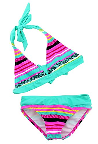 Aivtalk Kids Girls Tankini Bikini 2 Pieces Swimwear Swimming Bathing Suit