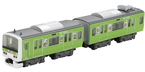 (2 cars into top + middle) Yamanote Line train Rilakkuma wrapping of B Train Shorty E231 system green