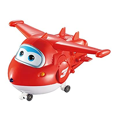 Super Wings - Jett's Super Robot Suit Large Transforming Toy Vehicle | Includes Jett | 5