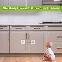 4 Pcs Cerradura de Nevera Seguridad de Armario para niños Cable ...