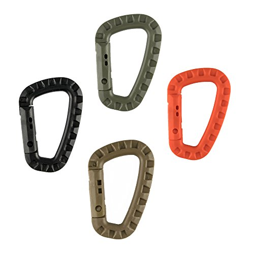0.78 Ounce Bottle (Swatom D-Shape PVC Carabiner Clip Hard Plastic Spring Snap Hook Carabiners with Keyring for Backpack Camping Bottle Use Keychains Accessories(4 Pcs))