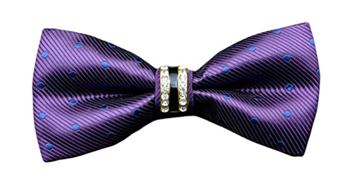 Dot Purple MENDENG Bow Party Ties Tie Shining Men's Dress Blue Purple Tuxedo Polka rqqwI45