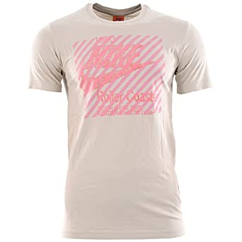 Nike Camiseta deportiva para hombre Marrón beige Talla:S