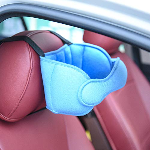 Adjustable Car Seat Head Support Band for Children/Adult,Offers Comfortable Safe Sleep Solution and Safety Protection,Neck Support(Light Blue)