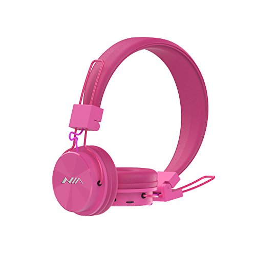 Wireless Bluetooth Headphones On Ear, Aitalk X3 Portable Headsets Ergonomic Fit Superb Comfort with Microphone, Support TF Card, FM Radio(Pink)