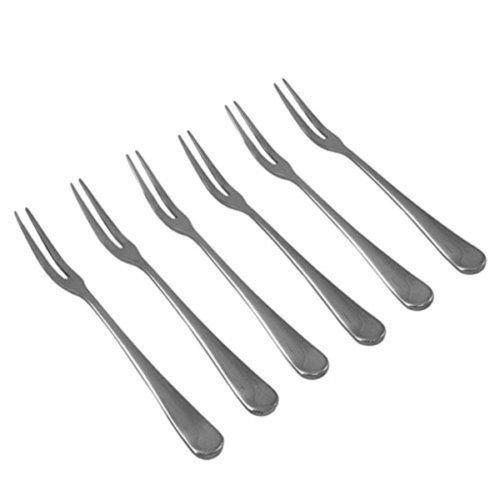 6pcs Stainless Steel Fruit Forks Set Home Party Restaurant Cake Dessert Fork