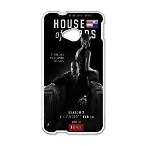 House Of Cards Underwoods HTC One M7 Cell Phone Case White toy pxf005_5731400