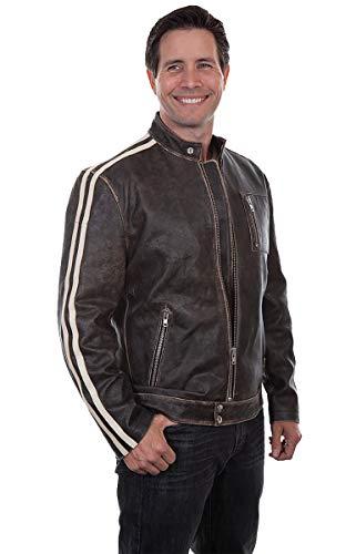[해외]Scully Mens Sanded Calf Racing Jacket / Scully Men`s Sanded Calf Racing Jacket Black Medium