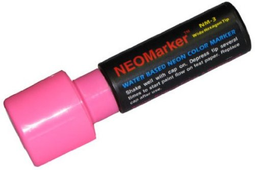 "NEOMarker Extra-Wide 1¼"" Tip Waterproof Glass Marker - Pink"