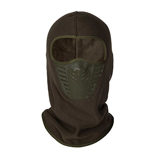 Orgrim Winter Fleece Warm Full Face Cover Anti-dust Balaclava Windproof Ski Mask Hat (Coffee)