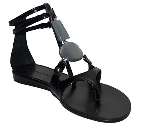 Roberto Botella Black Patent Leather Toe Post Sandals Size 4 CBBgrsO
