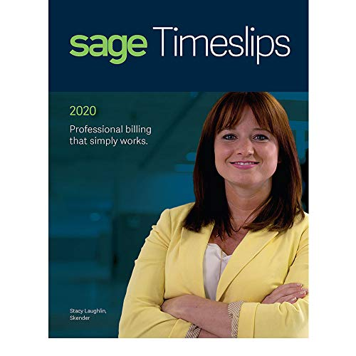 Sage Software Timeslips 2020 Time and Billing 1-User