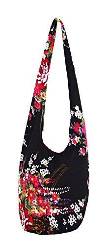 WITERY Women's Sling Crossbody Bags Large Shoulder Shopping Hobo Bag Handbag Top Zip Bags Handmade Messenger Bag Wallet