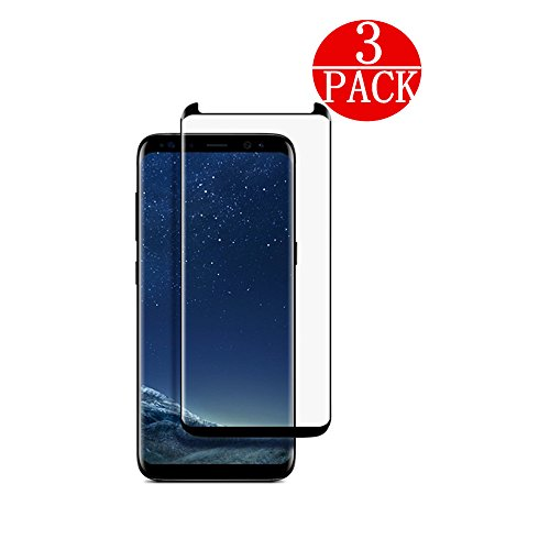 [3-Pack] Samsung Galaxy S8 Screen Protector , Linboll [No Bubble][Case-Friendly][3D coverage] PET HD Screen Protector Film for Samsung Galaxy S8 Black