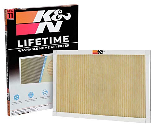 K&N Home Reusable Air AC Furnace Filter, 16x20x1
