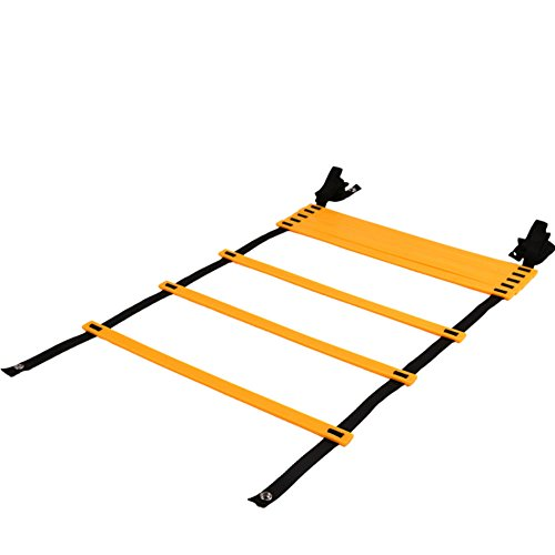 Agility Ladder MAXZOLA Adjustable Speed Ladder Soccer Training Tool with Carry Bag