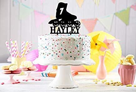Decoración para tarta de cumpleaños con diseño de patín ...