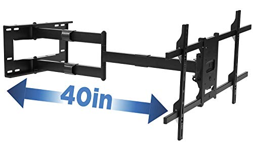 Mount-It! Long Arm TV Mount, Full Motion Wall Bracket with 40 inch Extension Articulating Arm, Fits Screen Sizes 42, 47, 50, 55, 60, 65, 70, 75, 80 Inch, VESA 800x400mm Compatible, Holds up to 110 lbs ()