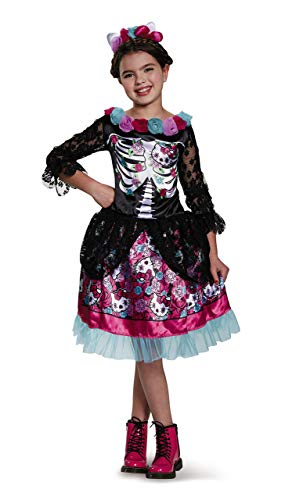 Dia De Los Muertos Hello Kitty Sanrio Costume, X-Large/14-16 -