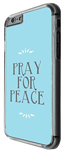 1092 - Cool Fun Pray For Peace Design For iphone 4 4S Fashion Trend CASE Back COVER Plastic&Thin Metal -Clear