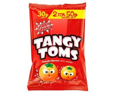 Golden Wonder Tangy Toms Tomato Flavour Corn Snacks (25g x 36)