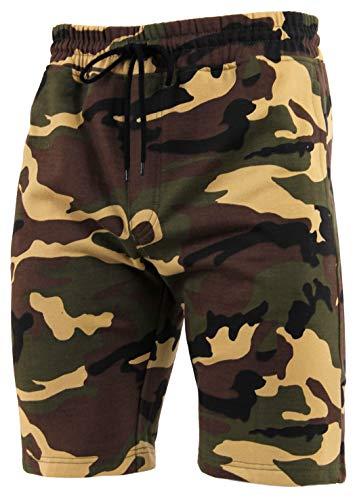 (Rothco Camo Sweat Shorts, Woodland Camo, 3XL)