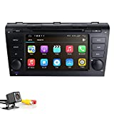 Android 9.0 Quad Core 7 inch Double Din in Dash HD Touch Screen Car DVD Player GPS Navigation Stereo for Mazda 3 2004-2009 Support Navi/Bluetooth/SD/USB/FM/AM Radio/WIFI/DVR/1080P + Camera