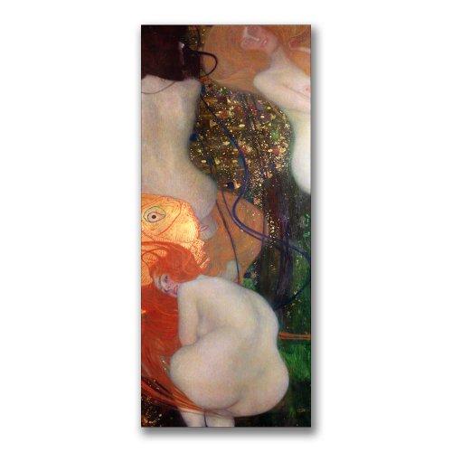 Gustav Klimt Abstract Canvas - Gold Ornate Framefish, 1901-02 by Gustav Klimt, 16x47-Inch Canvas Wall Art