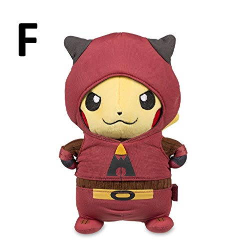 PAPWELL Pikachu Plush 7.8 inch Cosplay Pokemon Team Rocket Galactic Aqua Grunt Flare Plasma Magma Big Toy Stuffed Gift Collectable Christmas Halloween Birthday Collectibles Collectible for Kids (F) ()