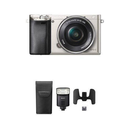 Sony-Alpha-a6000-Mirrorless-Digital-Camera-with-16-50mm-Power-Zoom-Lens-Silver-with-Flash-Bundle