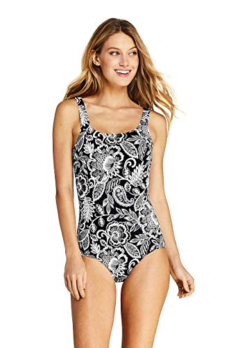Lands' End Women's Tugless One Piece Swimsuit Soft Cup - Lands End Bras Womens