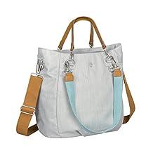 Lassig Green Label Mix 'n Match Diaper Bag Shoulder Bag includes Changing Mat, Bottle Holder and Stroller Hooks, Light grey