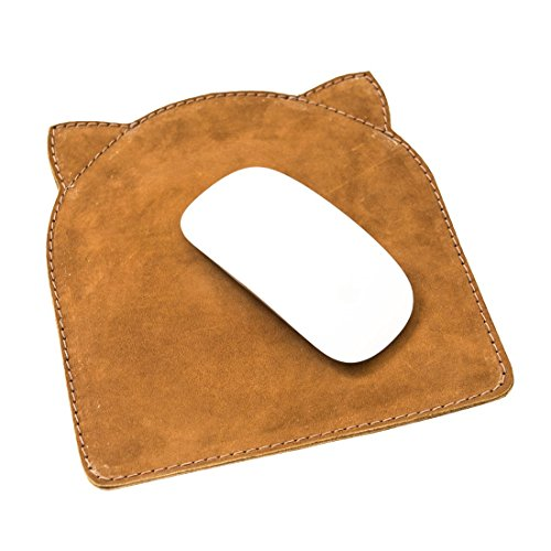Soft Leather Cat Mouse Pad Handmade by Hide & Drink :: Swayze Suede ()