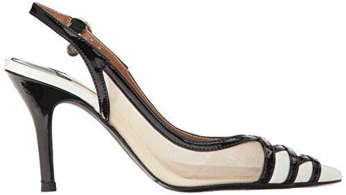 J.renee Womens Savina Robe Pompe Noir / Blanc